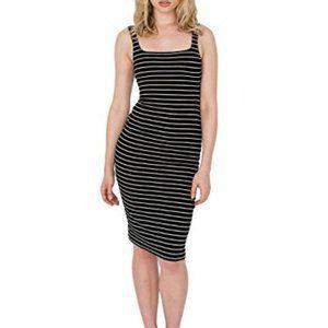 American Apparel striped ponte tank dress